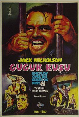 "Turkish movie poster for ""One Flew Over the Cuckoos Nest"" - WTF??"