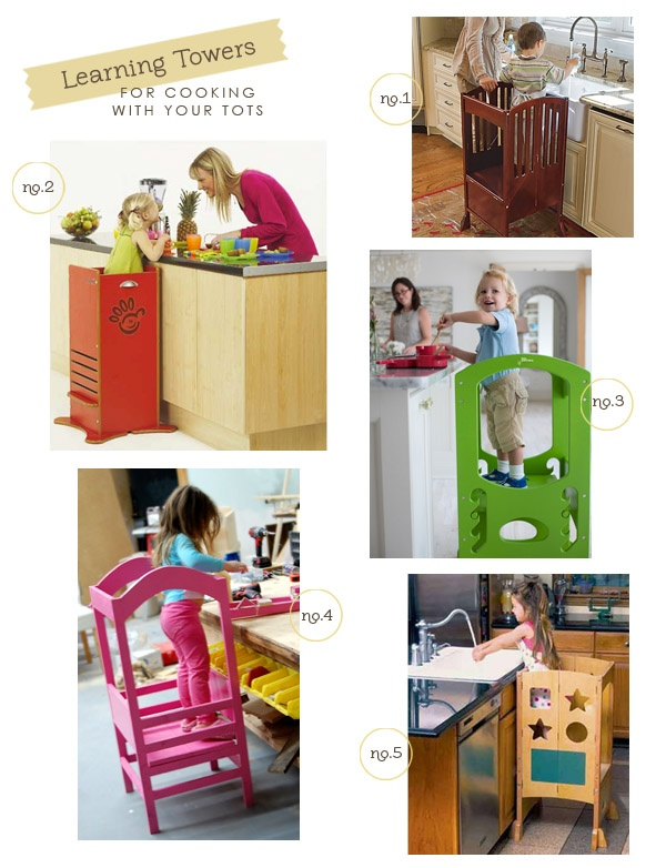 """""""Learning towers.""""  Great for crafts or cooking with mom."""