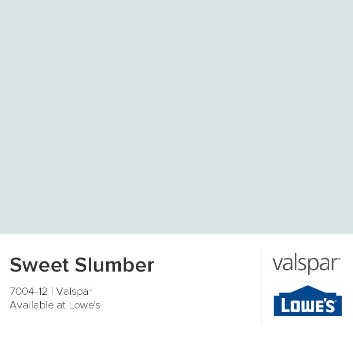 A tranquil color: Sweet Slumber from Valspar. Used this for my bedroom walls. Ultra White for all the trim and doors.
