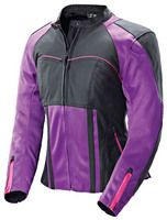 Motorcycles.  Love the color. Street bike Jacket for women.