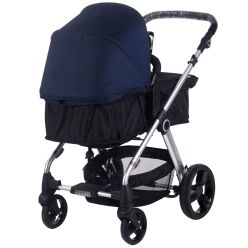 Designed for parents who want style, practicality and value, the MB150 Pram & Pushchair 3-in1 range delivers all 3. Suitable from birth to toddler this 3-in-1 pram and pushchair grows with your child and is an essential item for any parent. The seat unit quickly and easily transforms from a bassinet to a pushchair seat and can be both parent facing or outward facing.