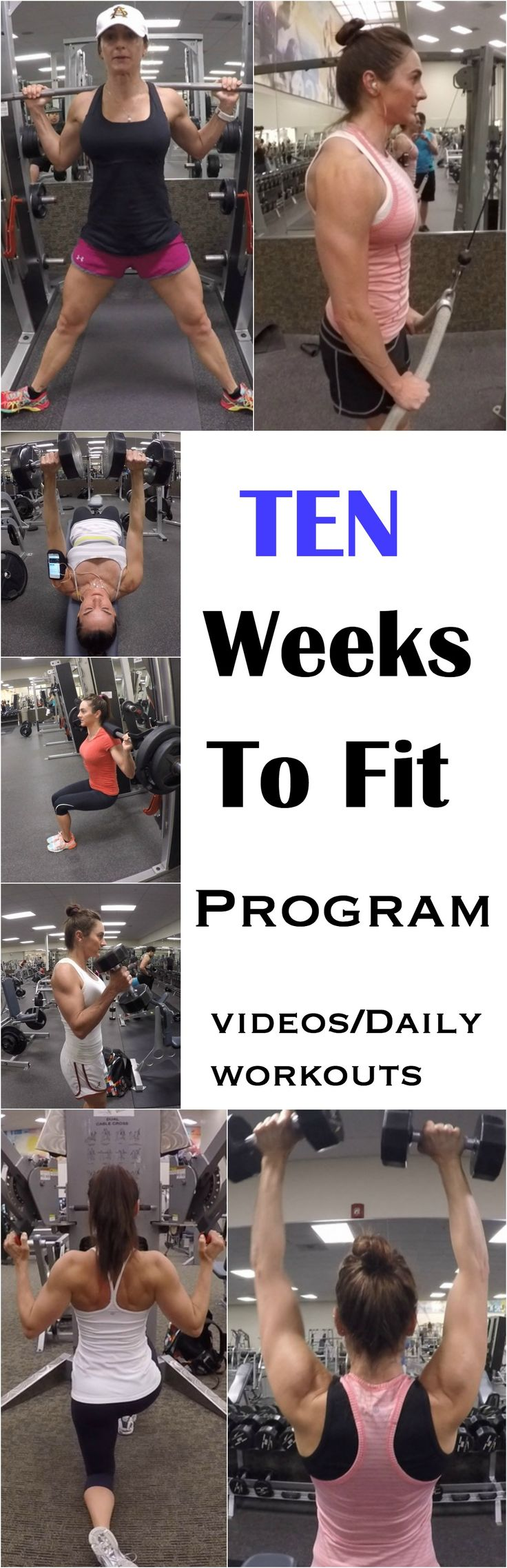 10 WEEKS TO FIT PROGRAM WITH VIDEOS AND DAILY WORKOUTS!