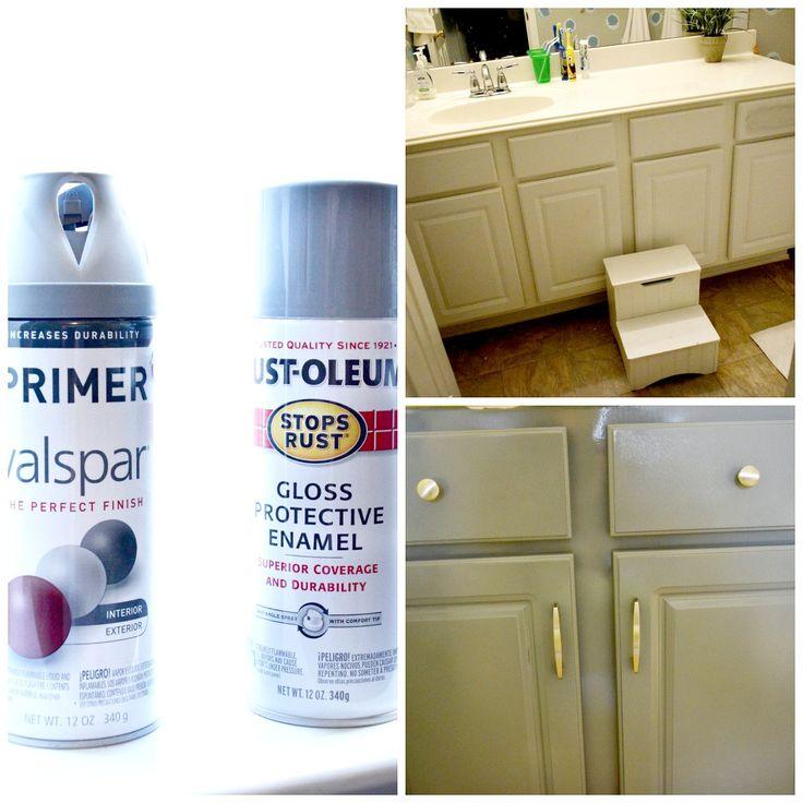 Spray Painted Kitchen Cabinets: Best 25+ Spray Paint Cabinets Ideas On Pinterest