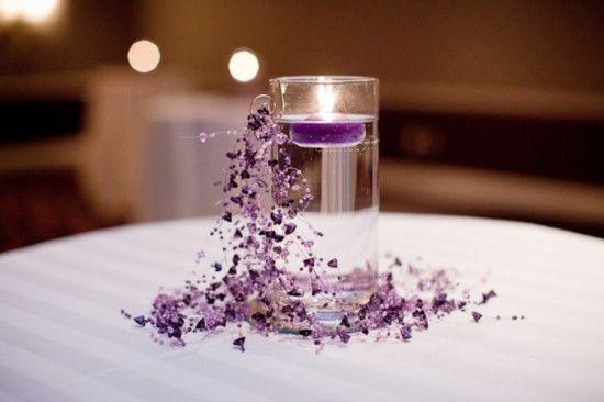 alexandria purple gray wedding hotel monaco 550x366 Alexandria Wedding: Christine + Dimitrios Purple and Gray Reception