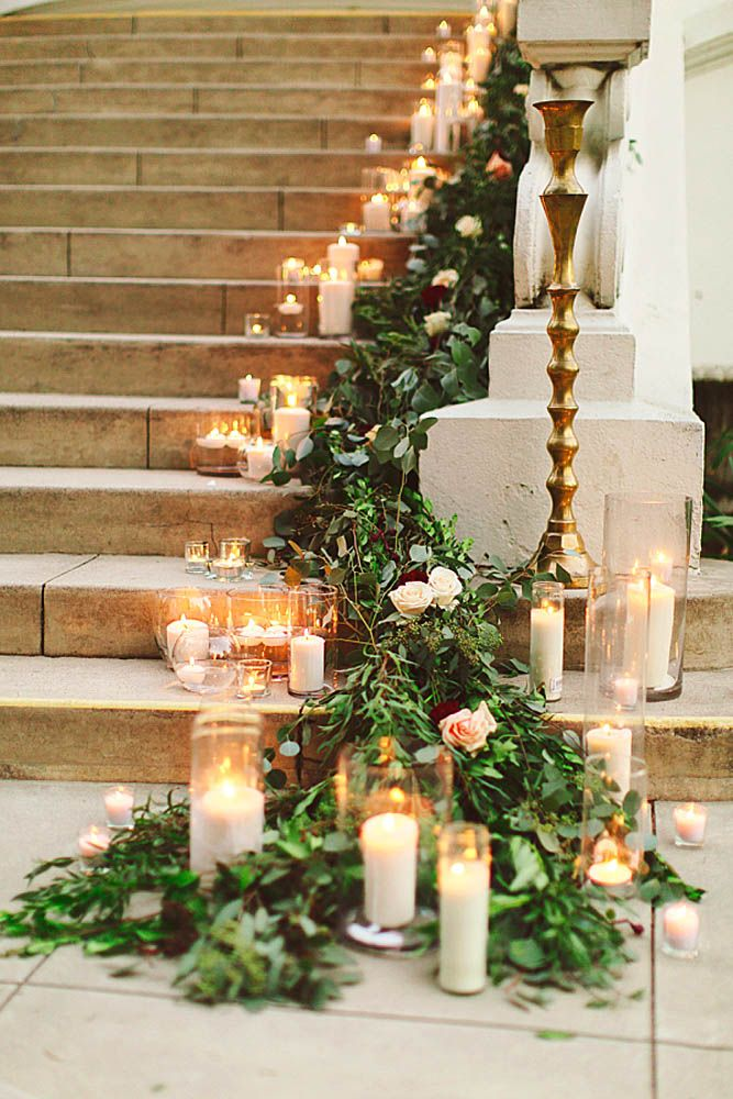 116 best wedding greeneryfloral images on pinterest wedding garland and candles on stairs junglespirit Choice Image