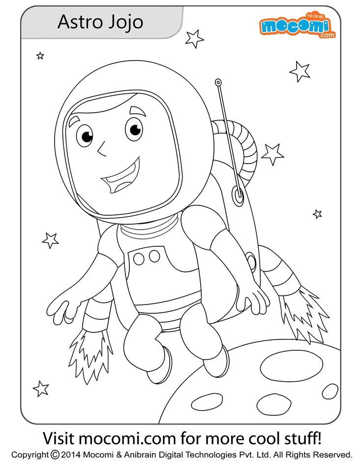 astronaut jojo online jojo colouringpage for kids free printable coloring pages for - Cool Stuff To Print Out