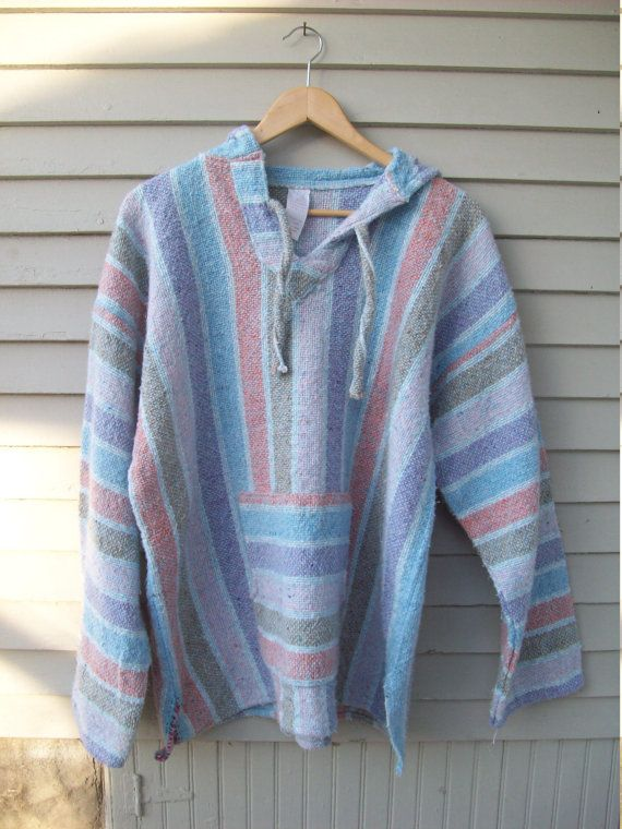 Oversized Pastel Baja Hoodie From Mexico by MaryAliceFeltLikeIt