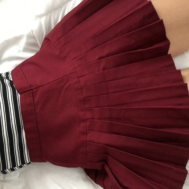 40e145446adf Deep red or burgundy skater tennis schoolgirl skirt, size small or medium.  SUPER adorable and very pleated, was an actual school uniform (-: ☆ small,  ...