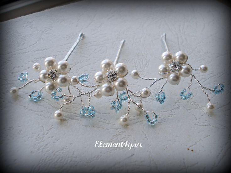 Something Blue Bride Bridal Hair Bobby Pins Clips