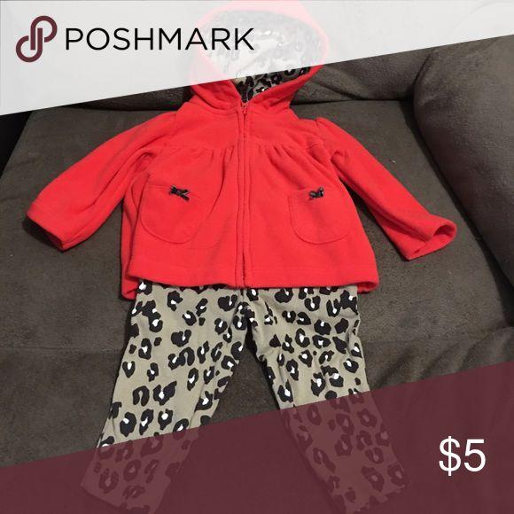 Animal Print hoodie Jacket and Pants Set Includes Hoodie Jacket and Pants Carter's Matching Sets