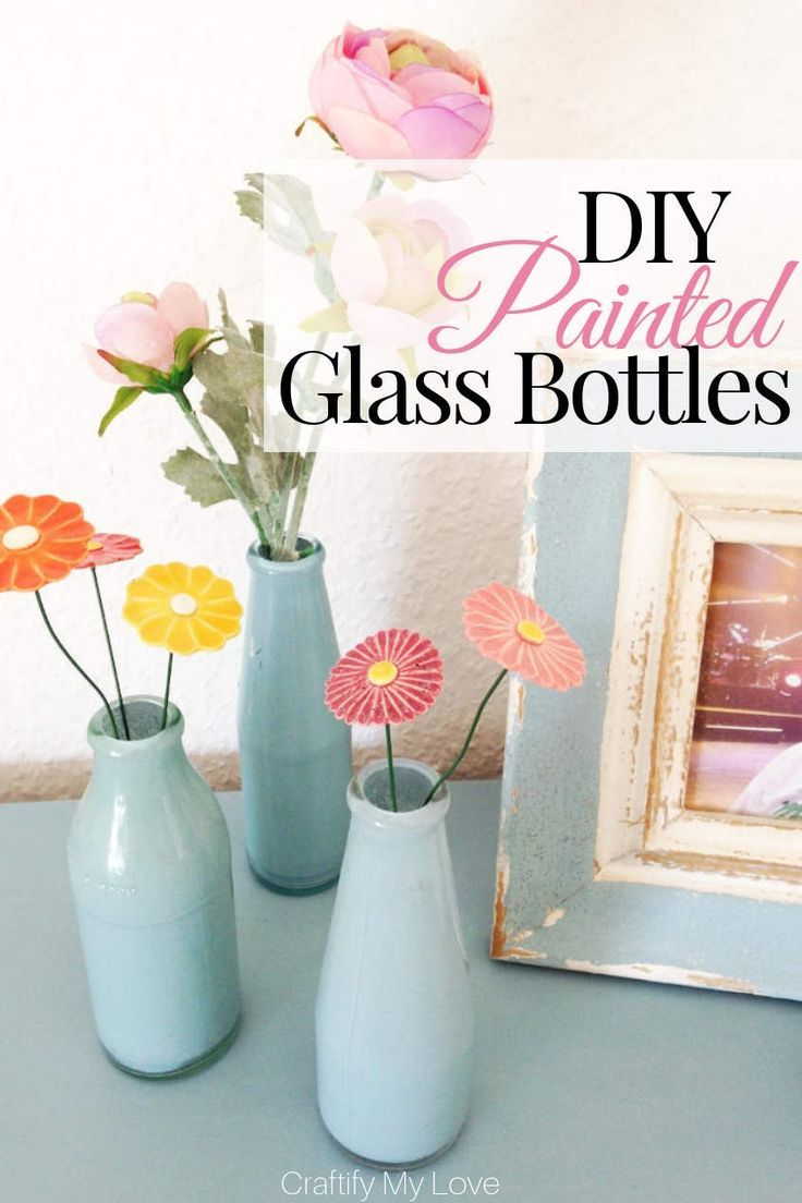 DIY Upcycled Painted Glass Bottles + $410 Mother's Day Giveaway