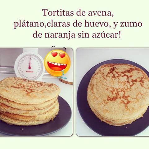 #patriciaalamo las tortitas que le hago a mi amorcito para el desayuno ⛅ #tortitas #desayuno #dieta #dieta #nutrición #protein #proteína #avena #plátano #zumodenaranja #fitness #live #linea #salud #sano #instagram