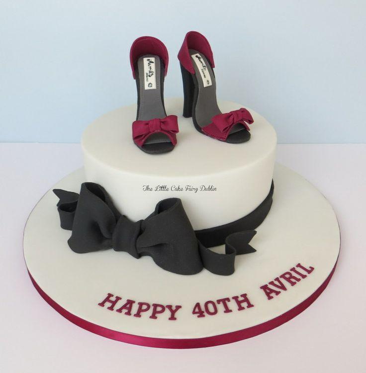 Elegant 40th Birthday Shoes Cakes www.facebook.com ...