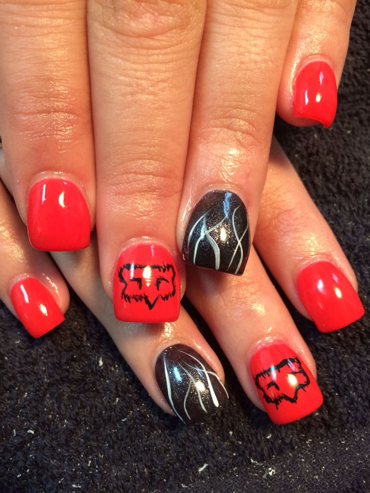 17 Best Ideas About Fox Racing Nails On Pinterest