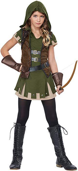 California Costumes Miss Robin Hood Costume, Olive/Brown