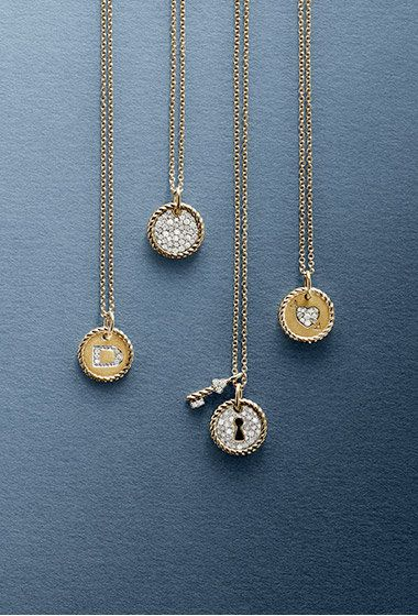 David Yurman delicate pave necklaces to-die for!