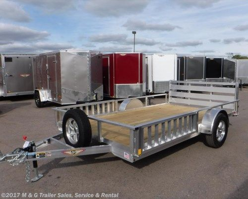 #273114 - 2017 H&H  8.5x12 Aluminum Rail Side ATV/Utility Trailer  for sale in Ramsey MN