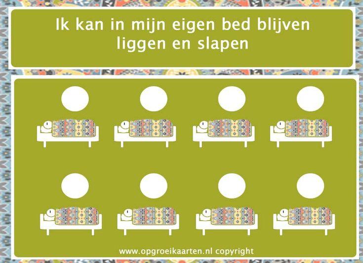 Beloningskaart voor het slapen in je eigen bed
