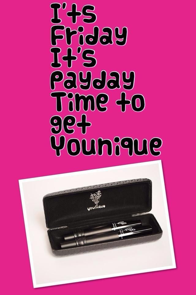 It's Payday! Buy Younique! Younique Products Fastest growing home based business! Join my TEAM!  Younique Make-up Presenters Kit! Join today for only $99 and start your own home based business. Do you love make-up?  So many ways to sell and earn residual  income!! Your own FREE Younique Web-Site and no auto-ship required!!! Fastest growing Make-up company!!!! Start now doing what you love!  https://www.youniqueproducts.com/KathysDaySpa