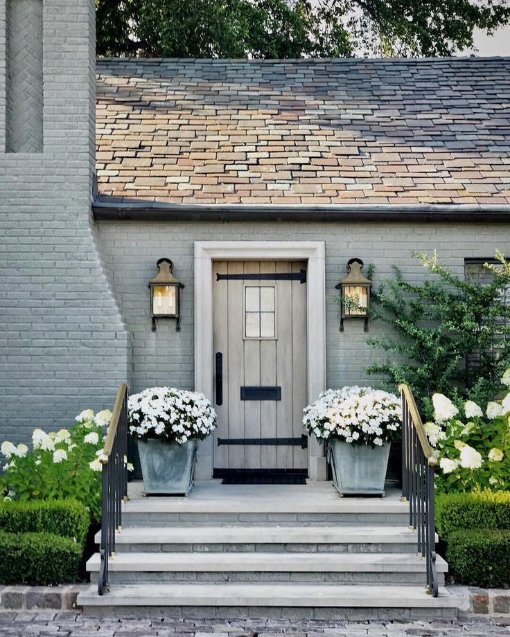 "1,362 Likes, 112 Comments - Christian Daw (@christiandawdesign) on Instagram: ""‍♂️How charming is the side entrance to this urban #cottage, with its oversized #lanterns and…"""
