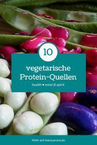 10 vegetarische Protein-Quellen ~ Protein (Eiweiß) ist einer der wichtigsten Grundnährstoffe. Es erfüllt weitreichende Funktionen im menschlichen Körper. Protein ist für das Wachstum erforderlich und die Entwicklung sämtlicher Körpergewebe (Haut, Knochen, Muskeln, Haare, Nägel, Organe, etc.). Des weiteren dient es als Baustein für zahlreiche Enzyme und die meisten Hormone.