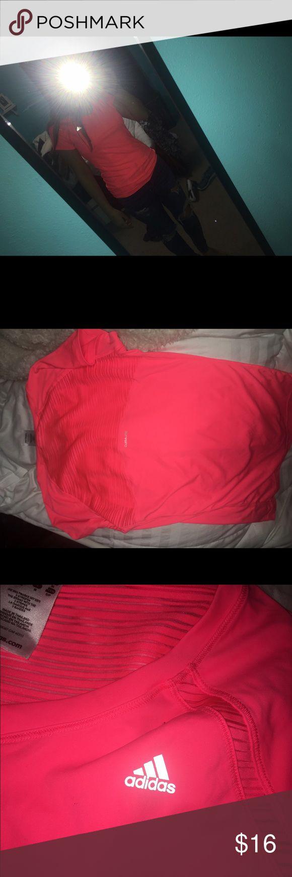 Adidas workout shirt Adorable and never worn! Adidas Tops
