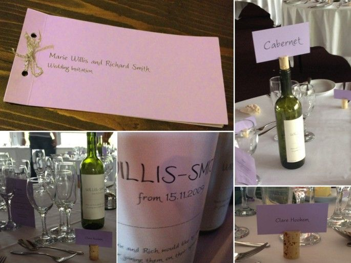 Lilac Wedding Invites & Wine Themed Table Settings for my best friends wedding :-)