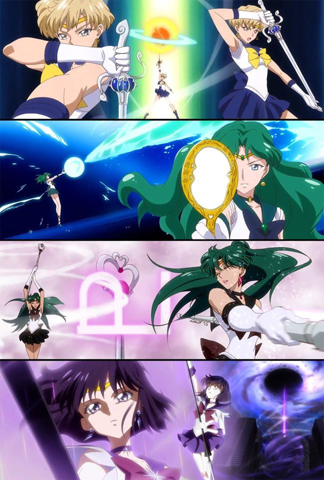 Outer Senshi attack by SM Crystal III