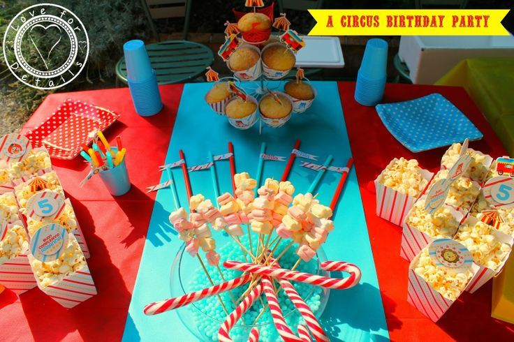 Festa di compleanno a tema circo a circus birthday party for Idee per party in piscina