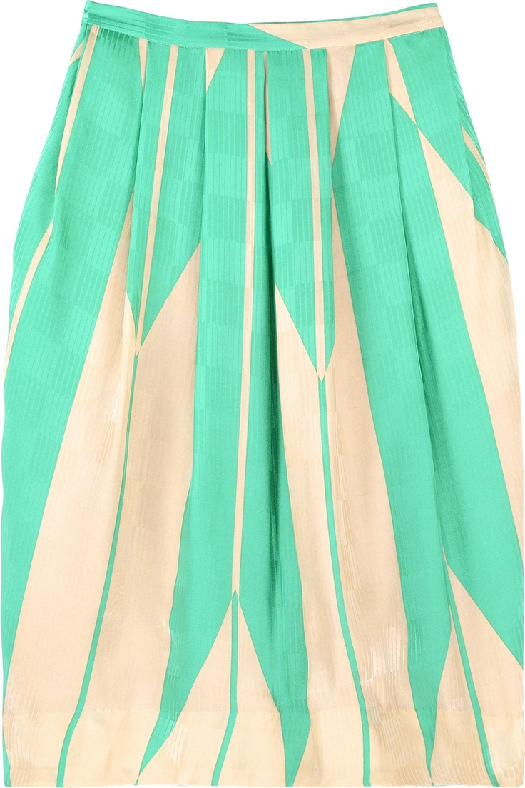 isalai printed silk skirt ++ malene birger: Silk Skirts, Printed Silk, Isalai Prints, Mint Green, Prints Silk, Prints Skirts, Circles Skirts, Cute Skirts, Pleated Skirts