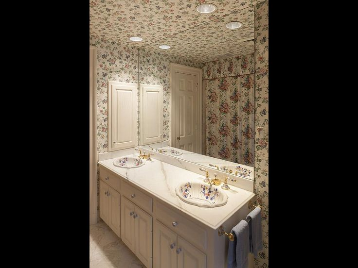sherle wagner classic bathroom with flower concept