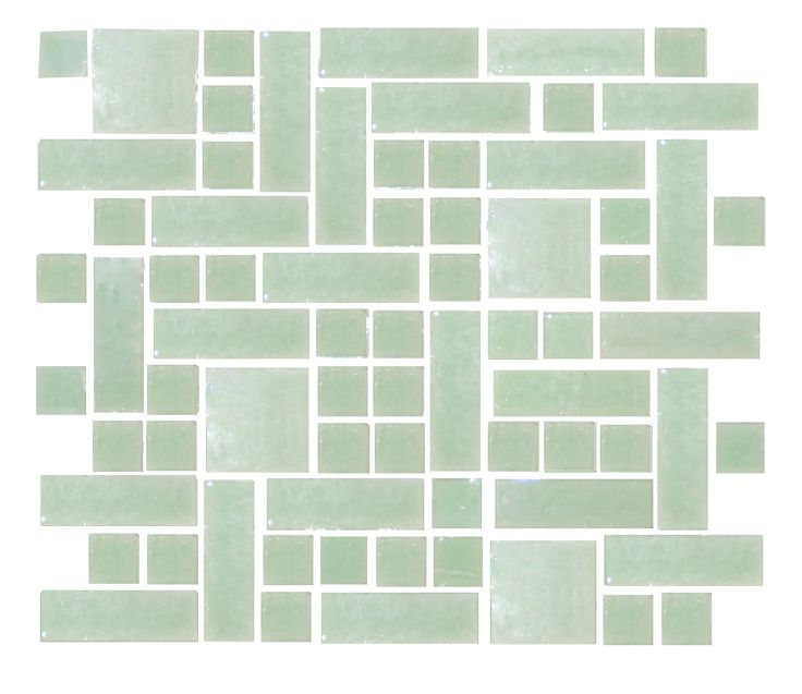 This Is An Option For Using One Type Of Gl Tile In Diffe Shapes Patterns Via Susan Jablon Custom Backsplash Pinterest