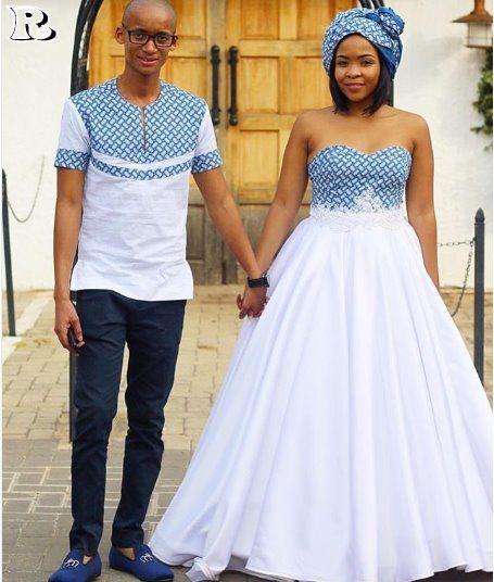 Nigerian Wedding Dress Designs: The Best Couples Shweshwe Dresses For 2018