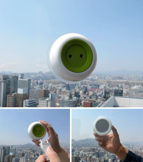 Solar Socket: Portable Plug-In Creates Free Energy to Go - A suction cup lets you stick the converter to any flat glazed surface, putting photovoltaic panels on the outside and a customary energy outlet on the other. And if you are worried about what happens at night or in overcast conditions: the device itself can store energy for in-place or mobile use.