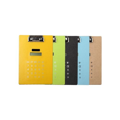 8 Digits Colorful Clip Board Calculator with Solar Power HY-512PU.