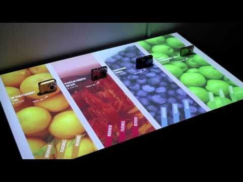 Perch. Interactive display technology for any light-colored table surface.