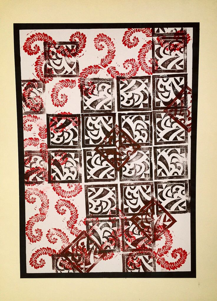 Abstract linocut (ca. 21x30cm)