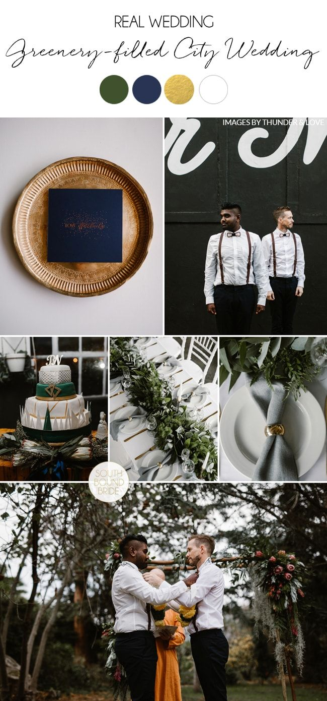 Greenery-filled Same Sex City Wedding by Thunder and Love Photography | SouthBound Bride