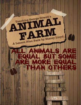 Step-by-step lesson plans, worksheets, questions and answer sheets for teaching George Orwell's Animal Farm!