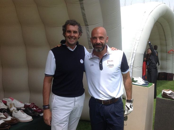Vialli e Raimondi al Pro Am Vialli & Mauro 2014 al Royal Park Torino  #Raimondi #raimondigolfshoes #golf #shoes #golfshoes #italianstyle #woman #handmadeinitaly #italy #originali #madeinitaly