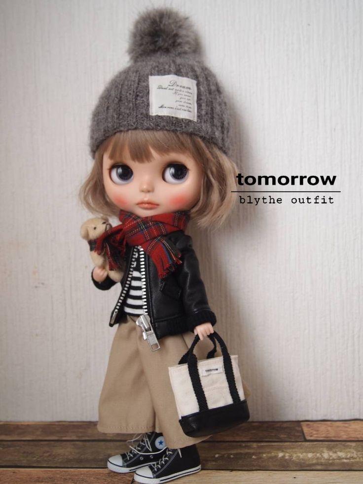 ◆tomorrow◆Blythe outfit ブライスアウトフィット◆本革ジャケット10点セット◆_画像4