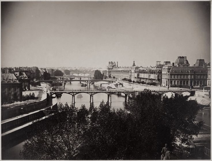 View of the Seine, Paris 1857