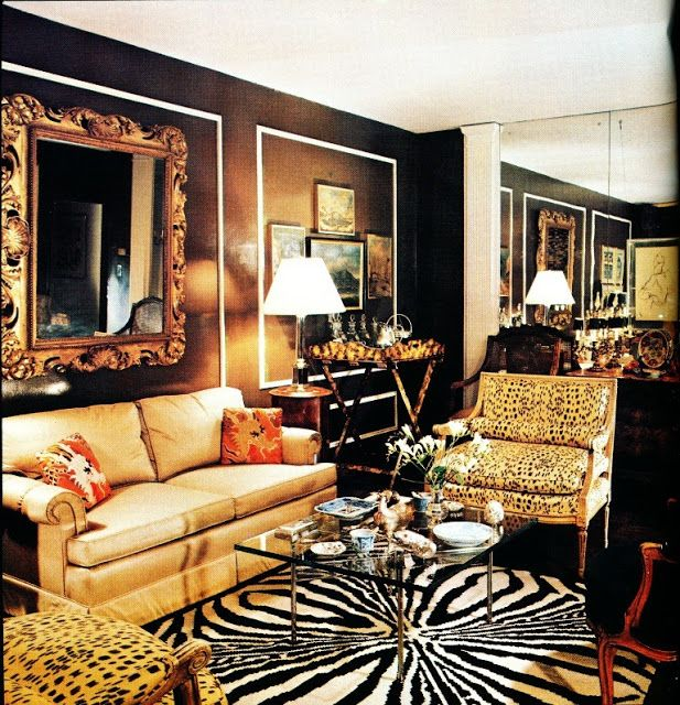 Ferris Megarity's Manhattan apartment. Architectural Digest, March/April 1975, Richard Champion photographer.