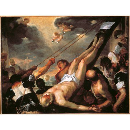 Crucifixion Of St Peter Canvas Art - (24 x 18)