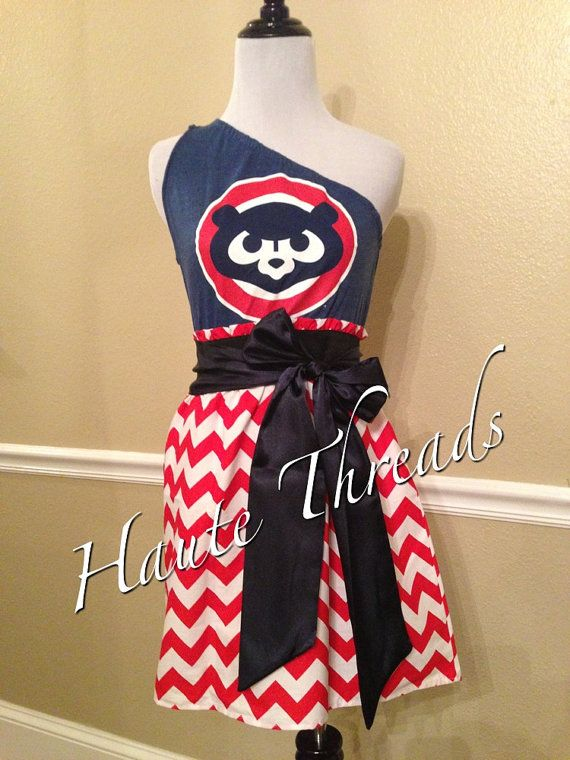 Chicago Cubs MLB Baseball Gameday Game Day dress by hautethreadsboutique, $70.00
