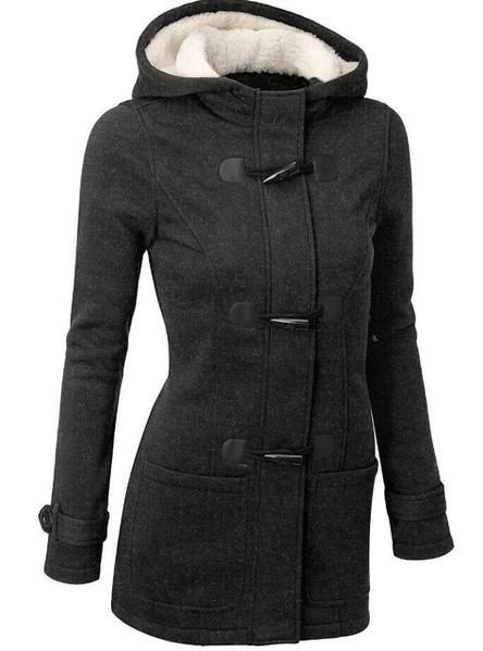Women's Long Hooded Cotton Coat On Sale NOW!