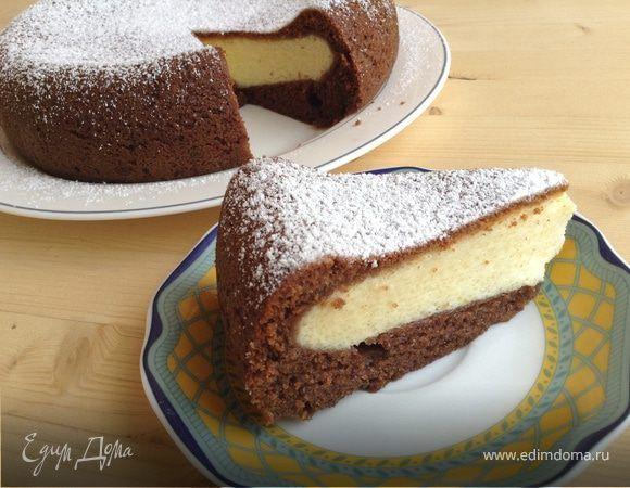 Шоколадно-творожный пирог в мультиварке. Ингредиенты: творог, яйца куриные, сахар   Кулинарный сайт Юлии Высоцкой: рецепты с фото