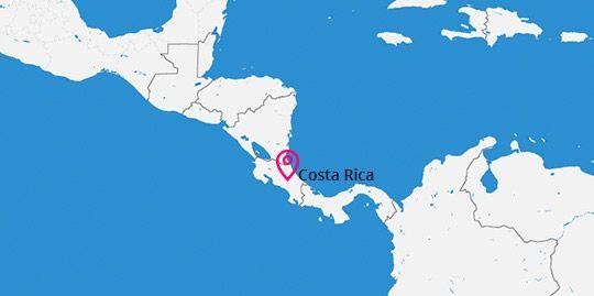 Costa Rica Destination Map