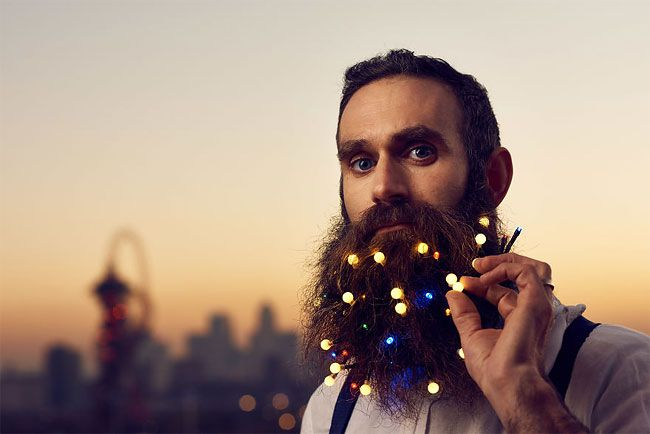 Forget beard baubles and glitter beards, hipsters are now opting for twinkling fairy lights as the latest way to add an extra festive touch to chin fuzz in 2016's hottest Christmas trend.  More info: East Village E20, London (h/t: boredpanda)    East Village E20, London is providing a beard pi