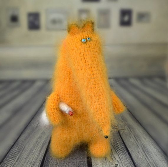 Fox with goose stuffed toys cute fox Amigurumi от MiracleStore